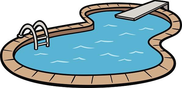 Swimming Pool Vector Clip Art .