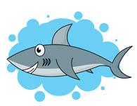swimming shark. Size: 51 Kb