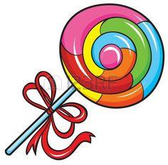 Swirl Lollipop Stock Vector .