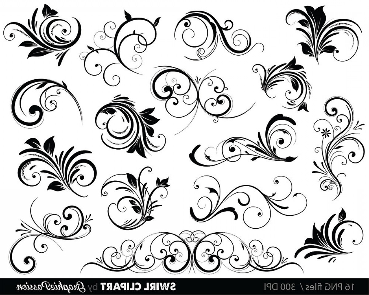 Black Vector Swirls: Swirls Clipart Digital Swirls Clip Art
