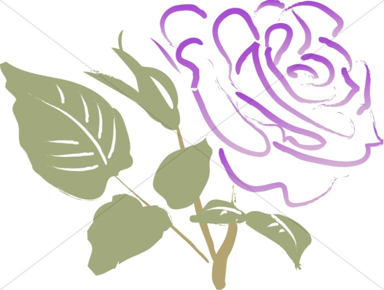 Purple Sympathy Rose - Sympathy Clipart