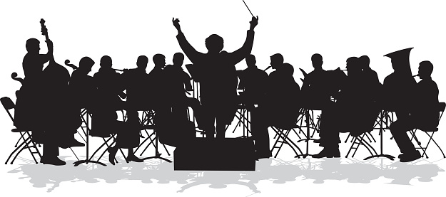 Symphonic Orchestra Silhouette .