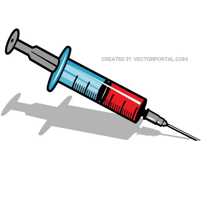 Syringe clipart vector #1