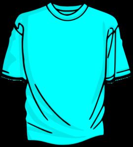 Blank T-shirt Light Blue Clip Art