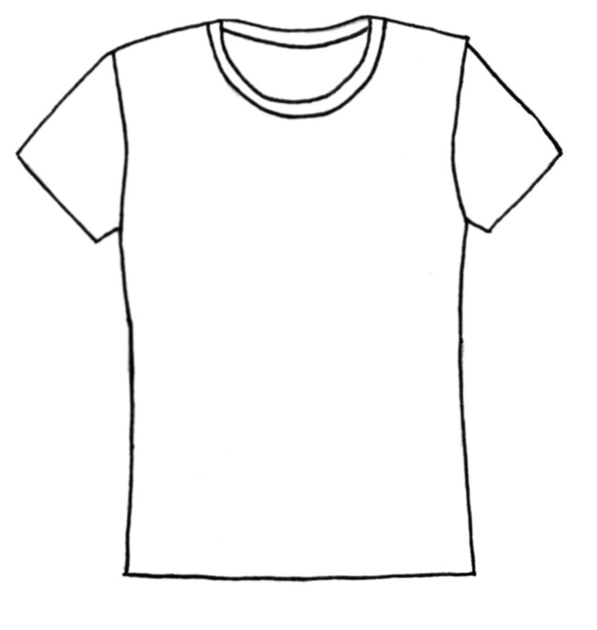 Plain T- Shirt Clipart #1