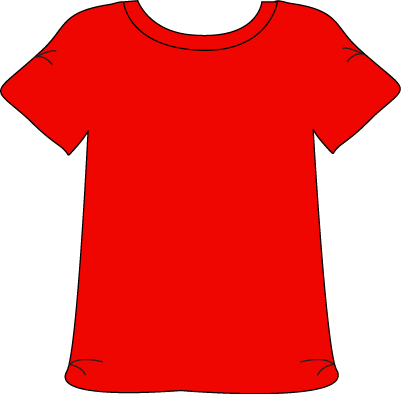 Red T-shirt Clipart #1