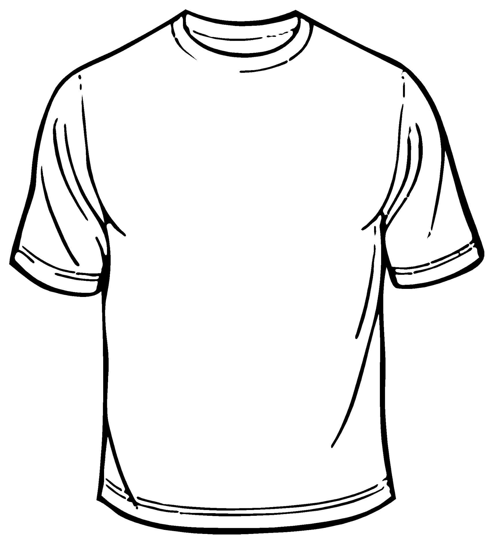 Shirt clipart blank t shirt #7