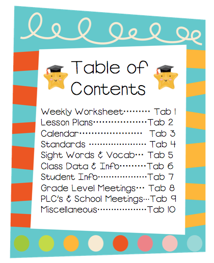 Table of Contents Clip Art