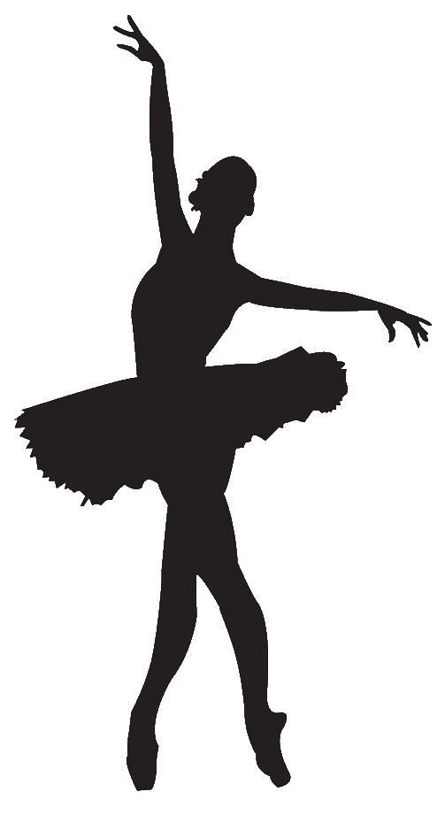 Take some white or pink card and draw the outline of a ballerina or a ballet