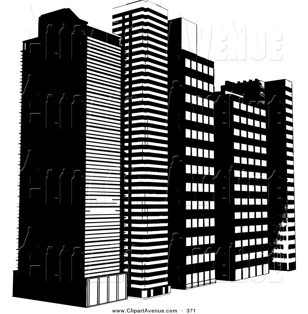Tall Building Clipart Avenue Clipart Of A Row Of