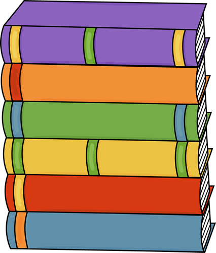 Tall Stack of Books Clip Art - Tall Stack of Books Image