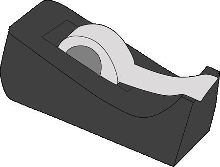 Tape Dispenser Clip Art Image Black Tape Dispenser With Stoch Tape