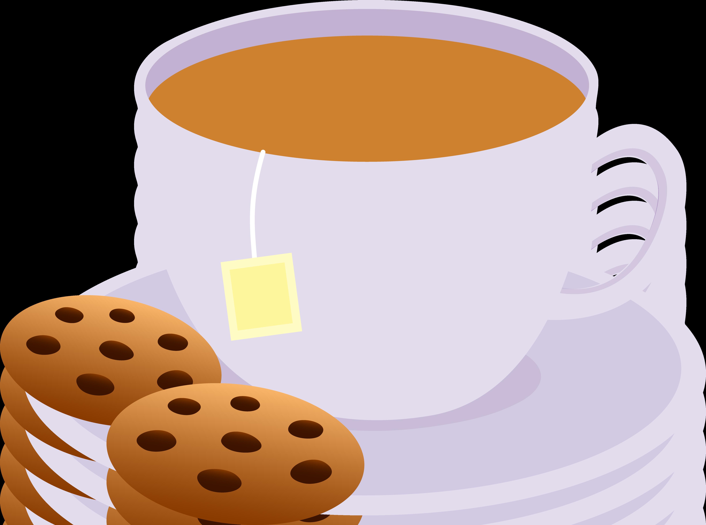 Tea Clipart Cup Tea Cookies Png