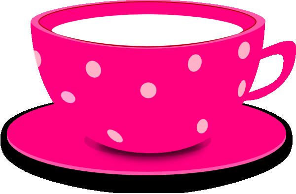 Tea Cup Pink Clip Art At Clker Com Vector Clip Art Online Royalty