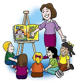 teacher reading clip art