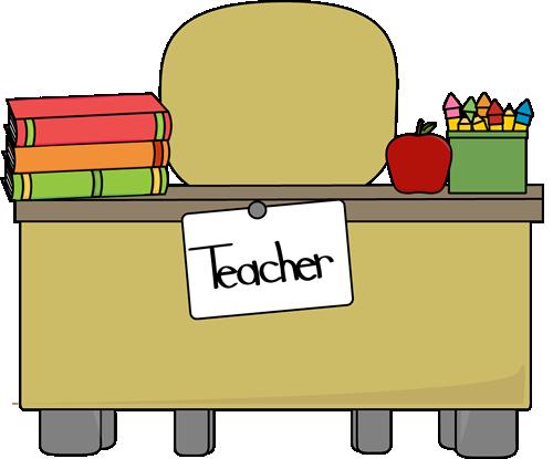 Teacheru0026#39;s Desk Clip Art - Teacheru0026#39;s Desk Vector Image