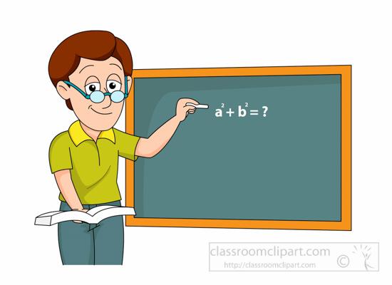 Teacher and class clipart .