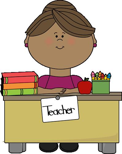 Teacher at a Desk