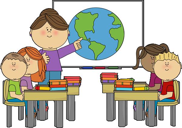 Teacher at Smartboard with Class Clip Art - Teacher at Smartboard