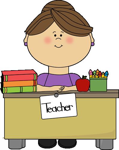 Teacher Sitting at a Desk