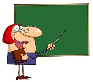 Teacher teaching clipart clipart image