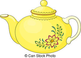 ... Teapot with pattern - China yellow teapot with a pattern.