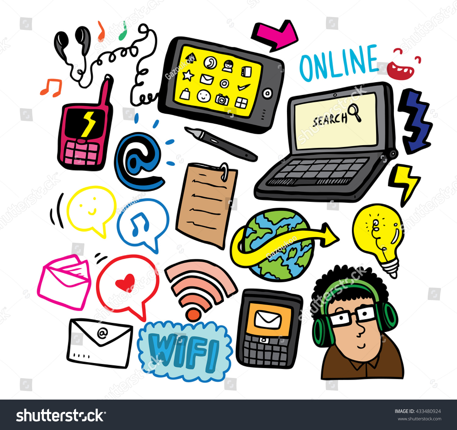 Technology clipart doodle art #8