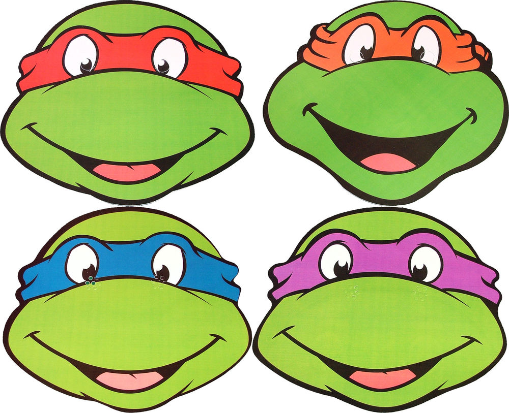 Teenage Mutant Ninja Turtles Faces Clipart