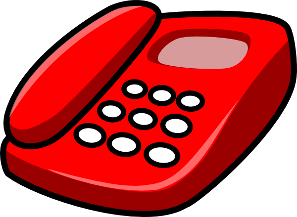 . hdclipartall.com free vector Red Telephone clip art