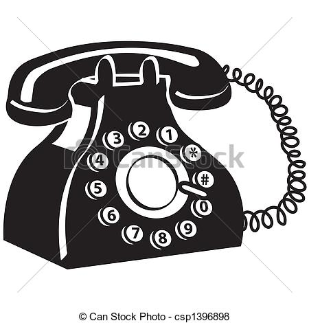 Phone Telephone Clip Art - csp1396898
