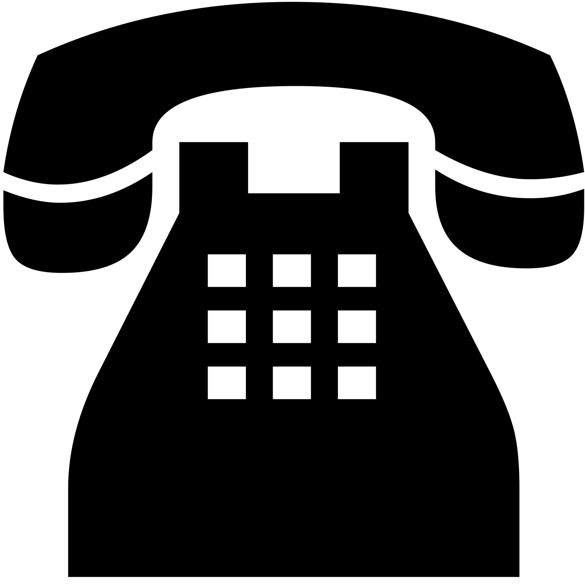 Telephone clipart silhouette #10