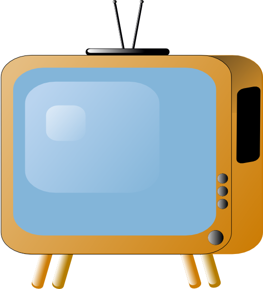 Television tv clipart vector clip art online royalty free design