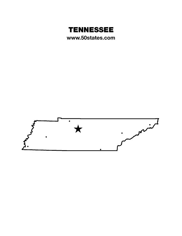 Tennessee Outline Clipart Icon PNG. Tennessee