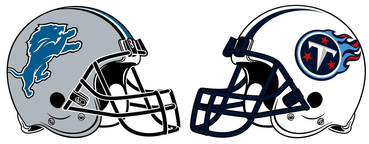 The Detroit Lions face off against the Tennessee Titans on Sunday.