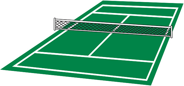 ... Tennis Court Clip Art, Vector Images u0026amp; Illustrations ...