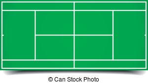 tennis court - detailed illustration of a tennis court,... ...
