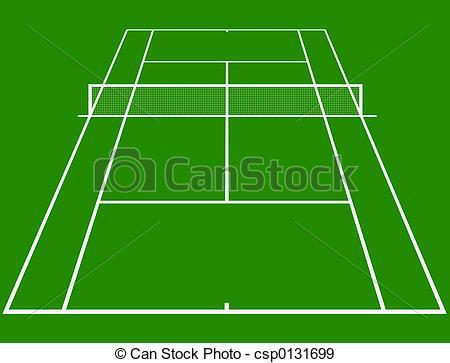 ... Tennis court - tennis court layout in perspective