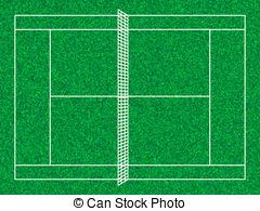 ... tennis court - Tennis court with grass texture.