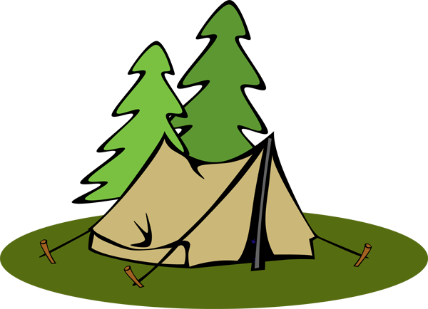 Tent clip art brown tents clipartcow