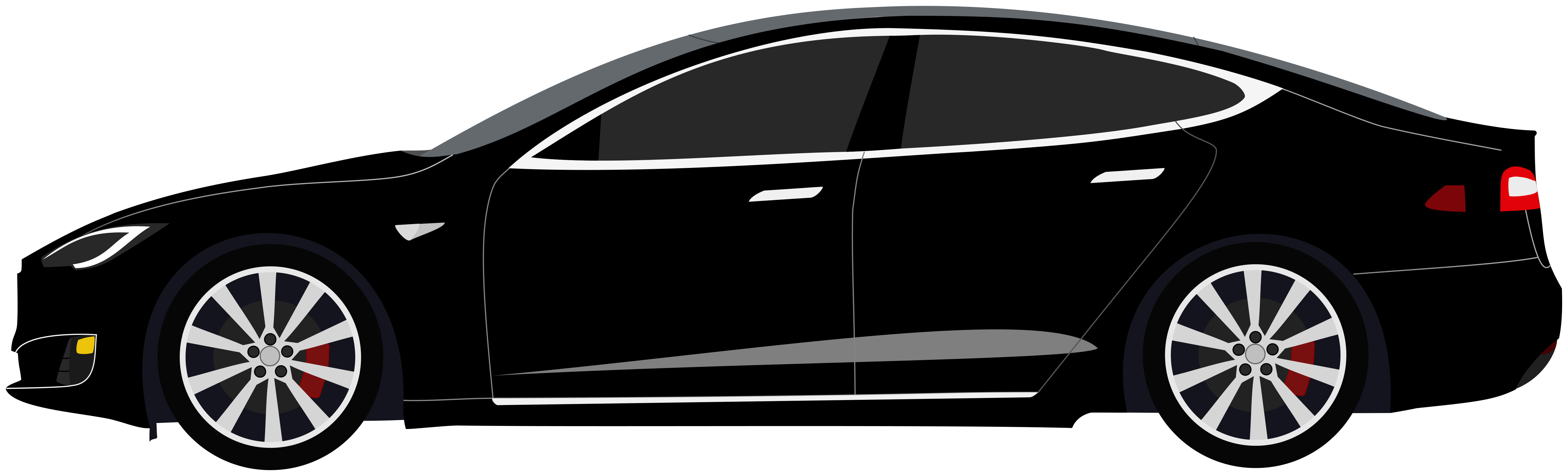 Black Tesla Model S Clipart