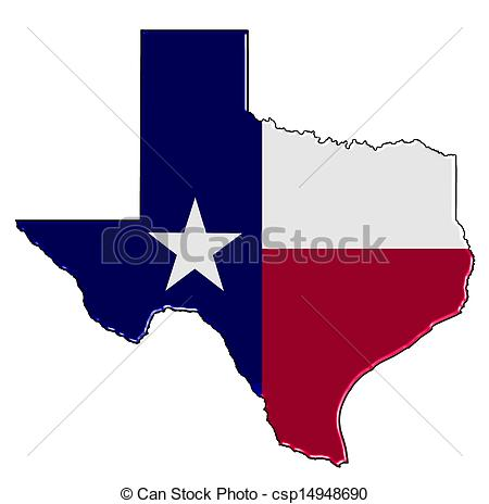 Texas Map Stock .