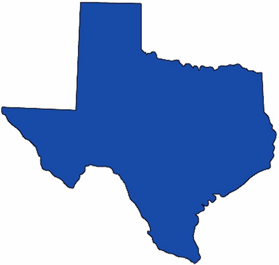 Texas State Clipart - medium .