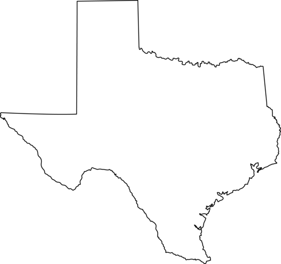 Texas state line art free clip .