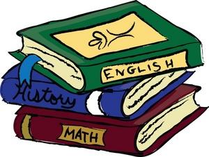 Text Book Clip Art. Academic Clip Art