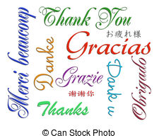 Thank you card many languages - Illustration composition of.
