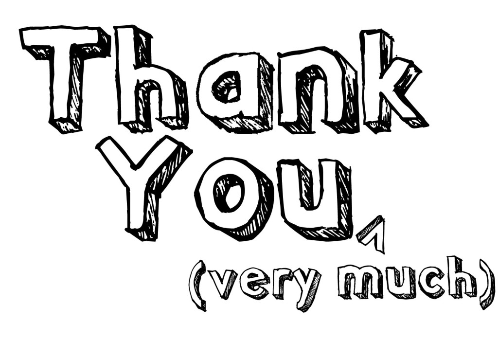 Black And White Thank You Clipart 10