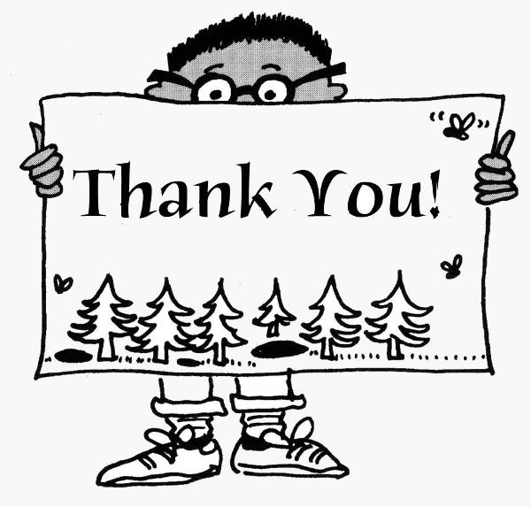 Black and White Thank You Clipart
