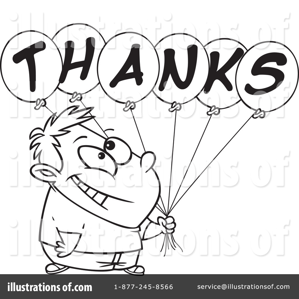 Royalty-Free (RF) Thank You Clipart Illustration #437776 by toonaday