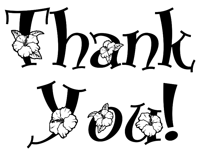 Thank you black and white thank you clipart 3