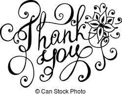 Thank You Clipart Black And White 32